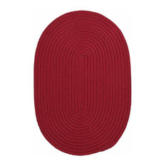 Colonial Mills, Inc - 12 Ft. Round Rug ,Sangria Textured Braided   by Super Area Rugs - Outdoor Rugs