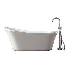 "Ove Decors Eva 65"" Freestanding Bathtub With Athena faucet"