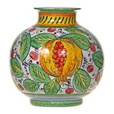 Italian Fruit Ceramic Vase