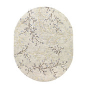 Surya Athena ATH-5008 Area Rug, Neutral/Brown, 8'x10' Oval