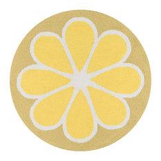 Novogratz by Lemon Yellow Kitchen Mat 3'x3' Round