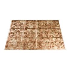 "18""x24"" Fasade Traditional 1 Backsplash Panel, Bermuda Bronze"