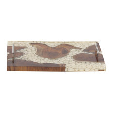 Rustic Rectangular Wooden Tray With Handles