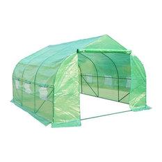 Garden 12'x10'x7' Portable Walk-In Steeple Greenhouse