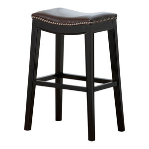 Strange Abbyson Living Rivoli Leather Nailhead Trim Counter Stool Uwap Interior Chair Design Uwaporg