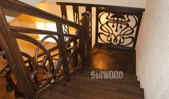 Дубовая лестница с резными перилами