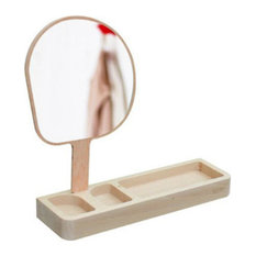 - Reine Mère Kagami Container with Mirror - Bathroom Mirrors