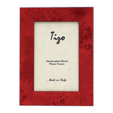"Wide Burl, Photo Frame, Red, 5""x7"""