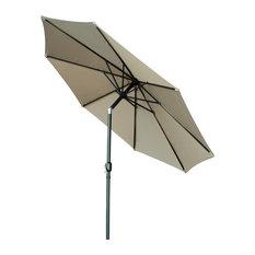 Tilt Crank Patio Umbrella, 10', Tan
