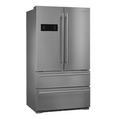 "Smeg FQ50UFXE 36"" Counter Depth French Door Refrigerator in Stainless Steel"