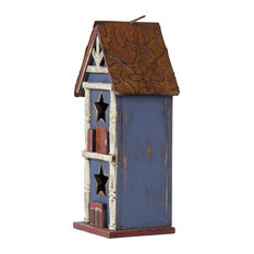 Wooden And Iron Vintage 2 Floors Birdhouse