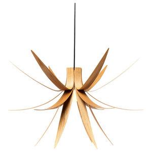 Iris Pendant Light, Large, Oak Veneer