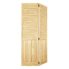 Kimberly Bay   Plantation Bi Fold Closet Door, Louver Panel, Clear,