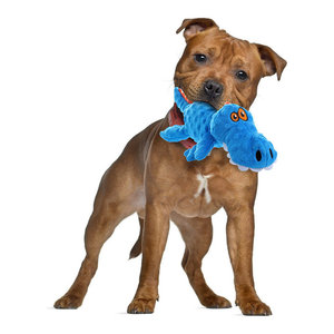 Godog Q774019 Checkers Blue Gator Dog Toy With Chew Guard Technology, Large