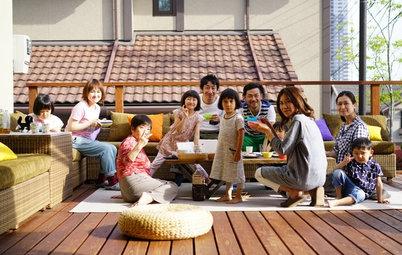 Houzz in Giappone: La Casa Dove Si Sta Sempre Tutti Insieme