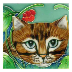 Light Brown Cat Face Tile
