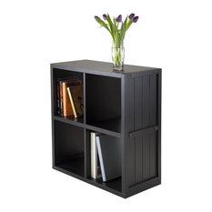 Wainscoting Panel Shelf, Black, 2x2
