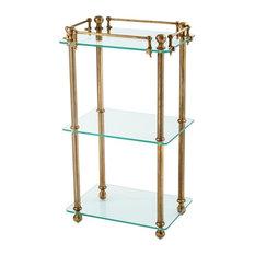 "Bathroom Rack | Eichholtz Devon, gold, 17""W x 13""D x 33""H | 43W x 32D x 82H (Cm)"