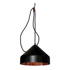 Vij5 Lloop Copper Pendant Lamp, Black