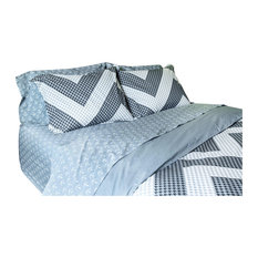 Black/Charcoal Chevron Houndstooth Comforter Set
