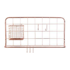 Open Grid Kitchen Rack, Copper