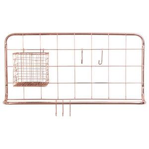 Open Grid Kitchen Rack, Copper