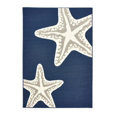 """Tributary Rug, Navy and Ivory, 5' x 7'3"""", 7'10"""" X 9'10"""""""
