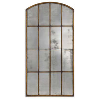 Amiel Antique Large Arch Mirror by Uttermost 13464 P in Brown Finish
