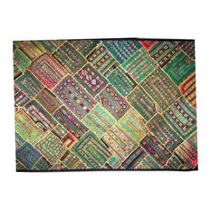 Mogul Interior - Consigned Wall Art Tapestry Kutch Wall Hanging Throw Embroidery - Tapestries