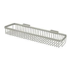 """WBR1851U15 Wire Basket, 18"""" Rectangular, Satin Nickel"""