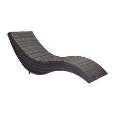 Hassleholtz Beach Chaise Lounge, Brown