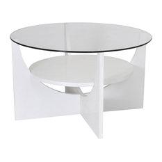 LumiSource U Shaped Coffee Table, White