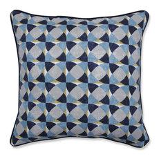 "Pillow Perfect Echo Geo Peacock 16.5"" Throw Pillow"