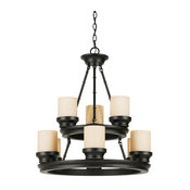 Trans Globe 3369 ROB 9-Light Chandelier