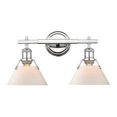 Orwell 2 Light Bathroom Vanity Light in Chrome