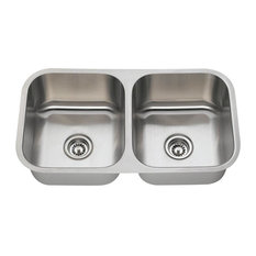 Small Double Sink Kitchen Most popular small double bowl kitchen sink houzz for 2018 houzz mr direct sinks and faucets 502a equal double bowl stainless steel sink 16 workwithnaturefo