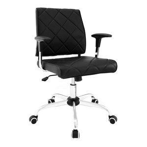 Lattice Faux Leather Office Chair, Black