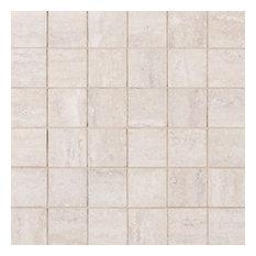 Milano Veneto White 2X2 Mosaic, Matte, Veneto, Veneto