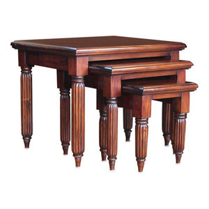 La Roque Mahogany Nest of 3 Coffee Tables
