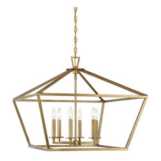 Townsend 6-Light Foyer Lantern, Warm Brass