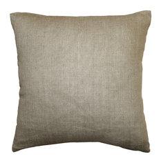Pillow Decor - Tuscany Linen Natural 20x20 Throw Pillow