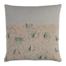 Rizzy Home Cotton Fabric Pillow, Dark Blush