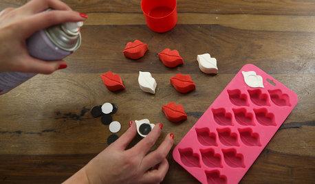 Своими руками: Магниты-валентинки из гипса к 14 февраля