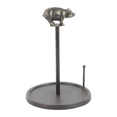Modern Iron Pig Paper Towel Holder