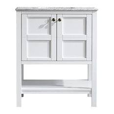 Florence Single Vanity, White, Without Mirror