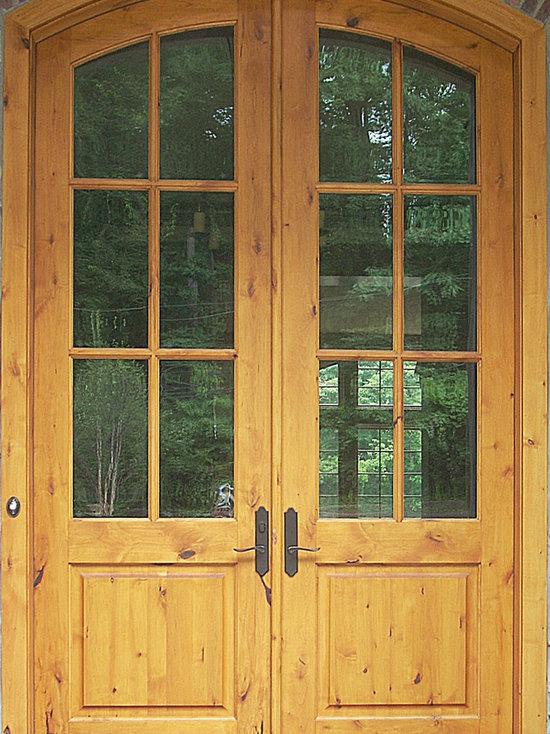 Arched Double Front Doors rustic doors