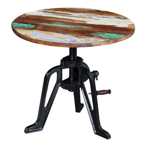 vidaXL Solid Reclaimed Wood Side Table, 60x63 cm