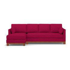 Avalon 2-Piece Sectional Sofa, Pink Lemonade, Chaise on Left