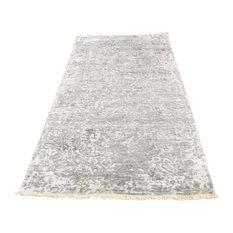 "2'7""x6'1"" Broken Persian Design Wool and Pure Silk Handmade Runner Rug"