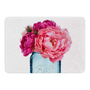 Kess InHouse Michelle Drew Underwater Bouquet Memory Foam Bath Mat 17 by 24